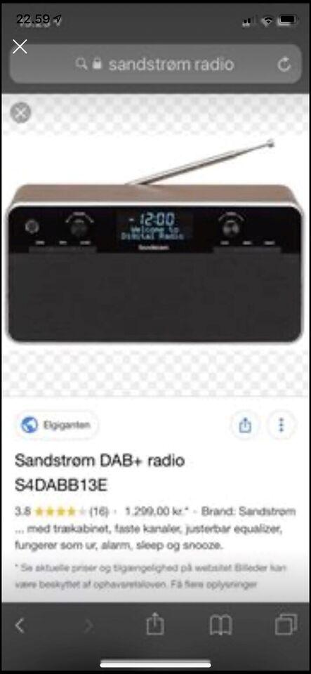 DAB-radio, Andet, Sandstrøm