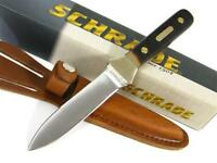 Schrade Old Timer Straight Fixed Blade Boot Knife + Sheath 162ot