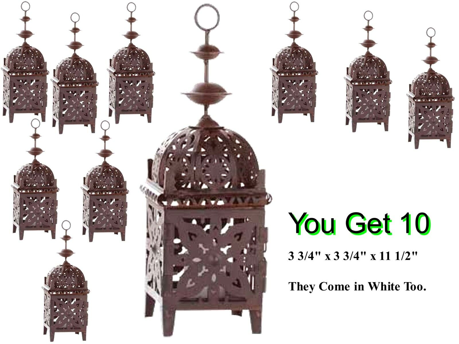 10 ROMANTIC MGoldCCAN STYLE LANTERNS CANDLE HOLDER 11