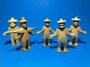 Lot-5-Vtg-1950-039-s-Hand-Carved-Small-Wooden-Figurines-by-Vermont-Artist-R-Thayer