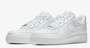 Details about Nike Air Force 1 07 LE Low All White 315115-112 Womens Wmns  100% Authentic AF1