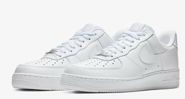 Nike Air Force 1 07 LE Low All White 315115 112 Womens Wmns 100% Authentic AF1