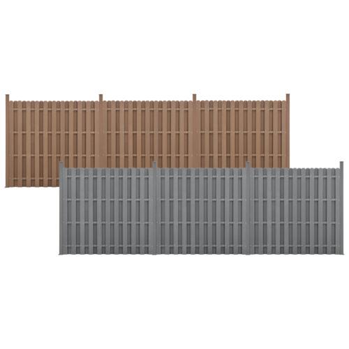 neu.holz WPC Gartenzaun Sichtschutzzaun Windschutz Lamellenzaun Zaun Grau Braun