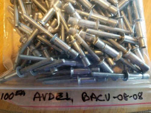 1000 Avdel® Monobolt® SSCV-08-08 Blind Rivet; 1//4 Inch Steel 0.250 Inch Zinc