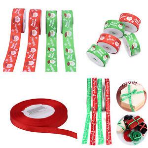 Happy-joyeux-Noel-Rubans-Flocons-De-Neige-Ruban-Cadeau-Cadeau-De-Noel-Decoration-UK