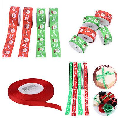 Feliz Feliz Navidad Ribbons Copos de Nieve Navidad Regalos envoltorio cintas del grosgrain