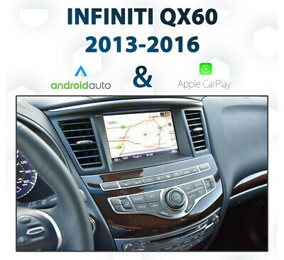 infiniti qx60 2013 - 2016 android auto & apple carplay