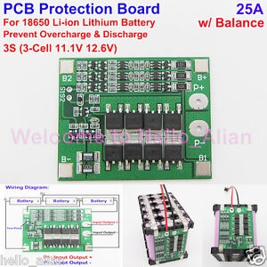 Battery Accessories Imported From Abroad 3s 40a 11.1v 12.6v 18650 Lithium Battery Protection Board For Screwdriver Drill 40a Current With Balance