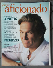 CIGAR AFICIONADO GENTLEMANS MAGAZINE 2001 OCTOBER JEFF BRIDGES LONDON RYDER CUP
