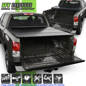 Hard Tri Fold Tonneau Cover For 2007 2018 Toyota Tundra Crewmax 5 5ft 66 Bed Ebay