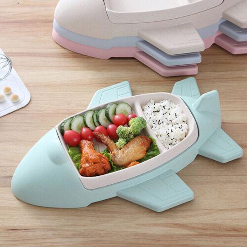 Cute Cartoon Tableware Bamboo Fiber Plate Aircraft Baby Tableware Dinner Plate