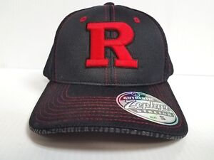621d434338c Image is loading Rutgers-Scarlet-Knights-Cap-Zephyr-Stretch-Fit-Fitted-