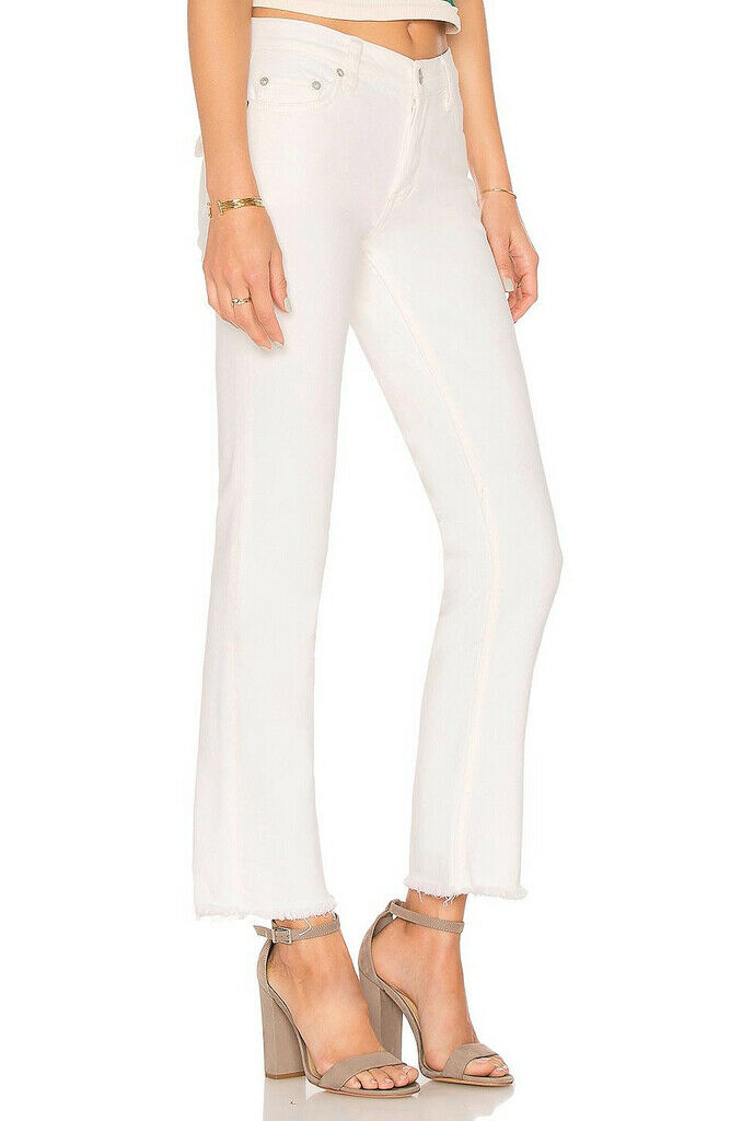 Free People Womens Austen OB815921 Jean Straight Natural White Size 26W