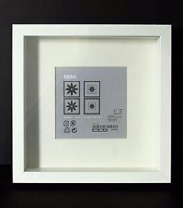 new deep square white ikea shadow box photo frame memory box 23 x 23cm genuine ebay. Black Bedroom Furniture Sets. Home Design Ideas