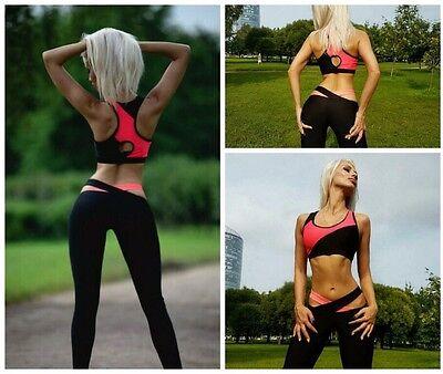 Women Yoga Set Running Train Bra & Pants Gym Workout Fitness Tights Sports Wear