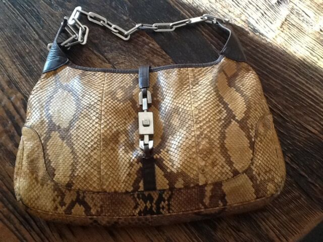 8cc09fc629bccc GUCCI Shoulder Bag 100% Authentic Limited Edition Python Jackie Bag, Hobo  Style.