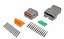 Deutsch DT 12 Pin Connector Kit 16-20 GA Solid Contacts