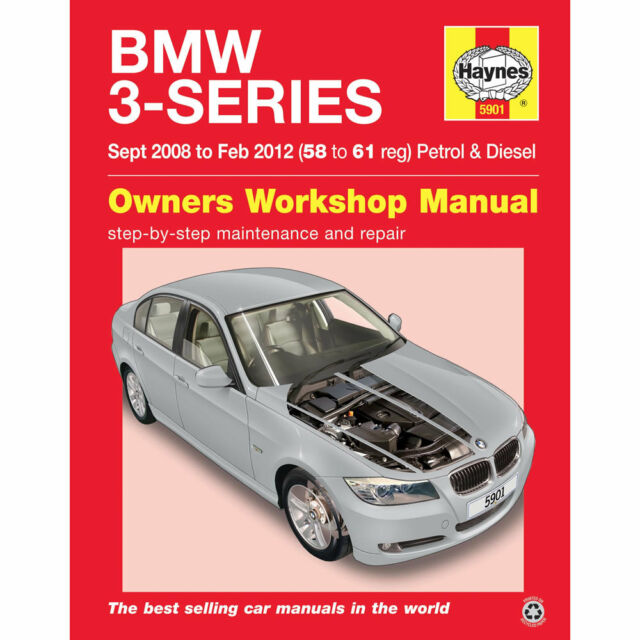 BMW 3 Series Haynes Manual 2008-12  2.0 3.0 Petrol & Diesel Workshop Manual