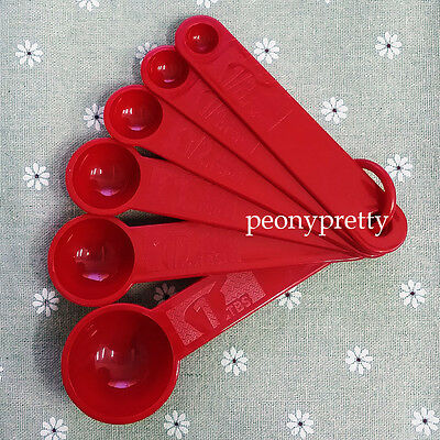 6 in 1 measuring spoons spice cup sugar salt bakery cooking kitchen helper
