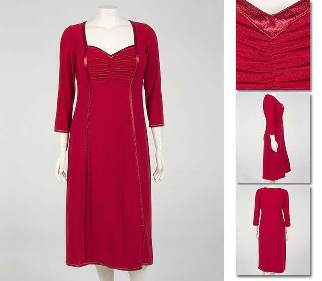 NEW   Zaftique SWEET SERENADE Dress GARNET Red (Only One) 00Z   12   Medium M