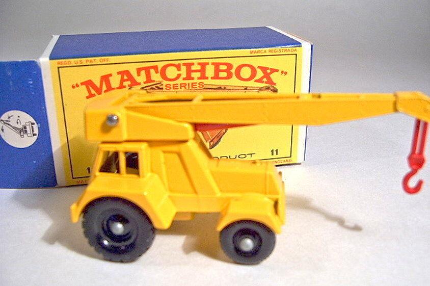 Matchbox RW 11C Jumbo Crane Crane Crane 1. Ausführung komplett in yellow neu in Box a48f93