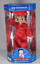 """Betty Boop College School Graduate Gown Doll 12""""  Red High School College"""