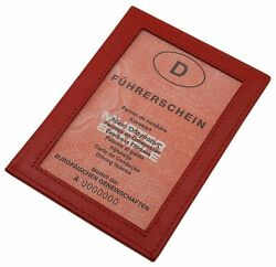 Kalbsleder Ausweisetui Ausweistasche Ausweismäppchen Ausweismappe Rot
