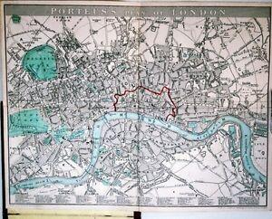 Antique-map-Porteus-039-s-plan-of-London