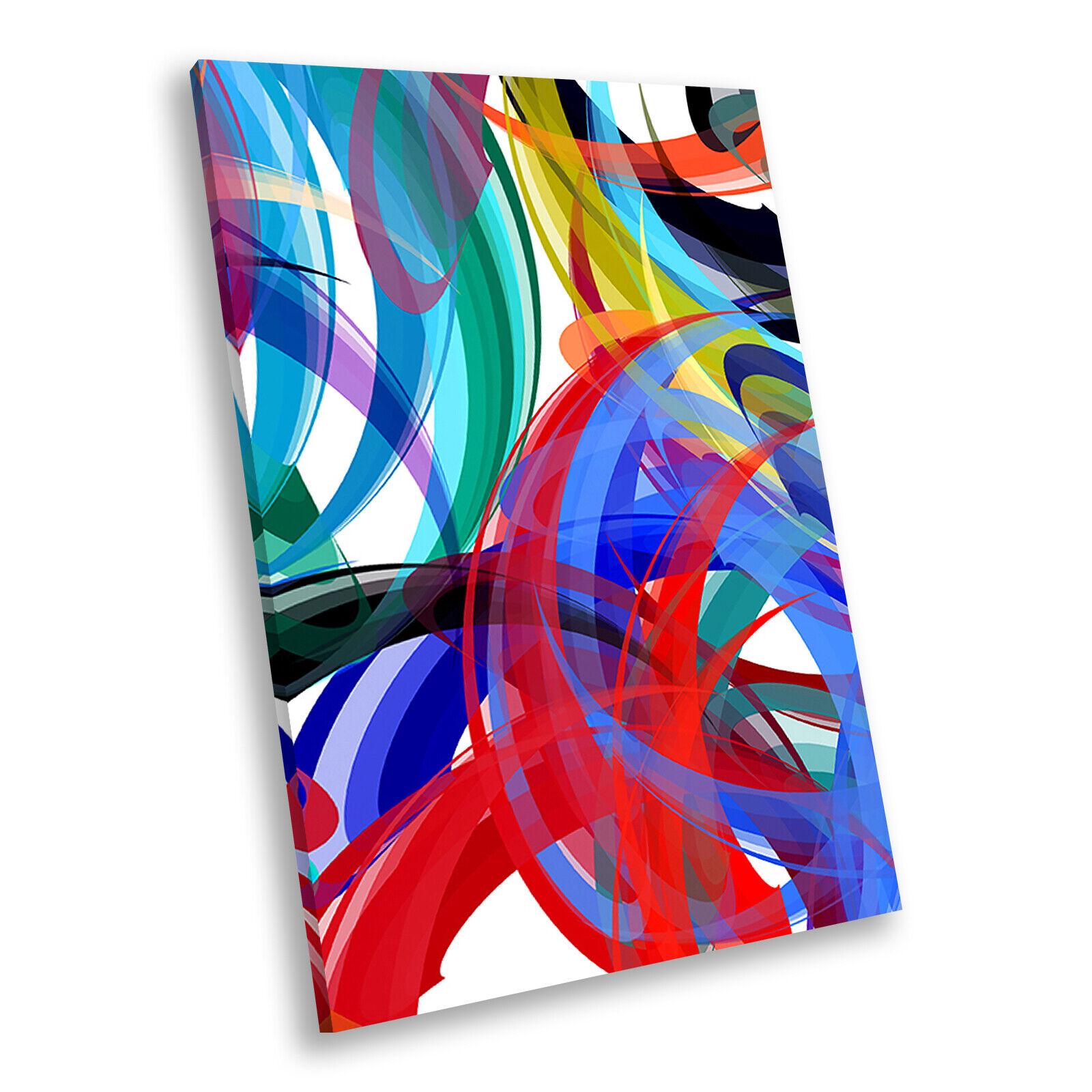 rot Blau Grün Teal Portrait Abstract Canvas Wand Kunst Large Bild Druckens