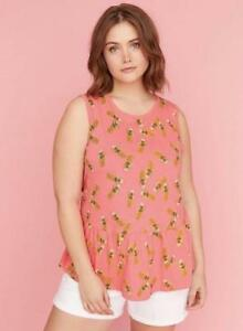 LANE BRYANT ~ NWT New 14 16 18 20 22 24 26 28 ~ SMOCKED Off-The-Shoulder Top