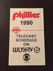 Details about Philadelphia Phillies 1990 MLB pocket schedule - CBS