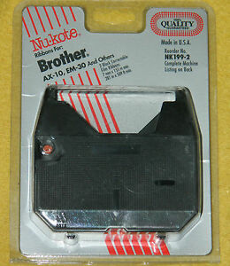 New 2 Nu-Kote Brand Ribbons for Brother AX-10, EM-30, P