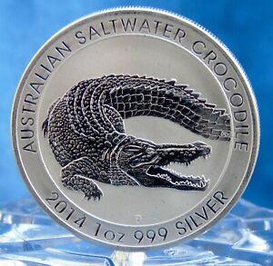 pièce en argent 2014 australian Crocodile saltwater 1 oz silver .999