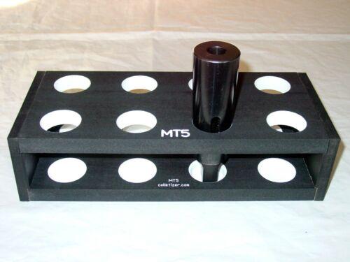 #5 Morse Taper Shank Drill Bit Bench-Top Storage Rack Stand MT5 5MT set #2AXN8