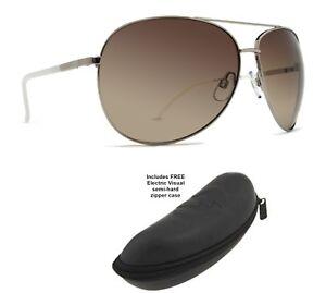 8db18c6a6e7 NEW Dot Dash Nookie Silver Aviator Wrap Round Sunglasses + Electric ...