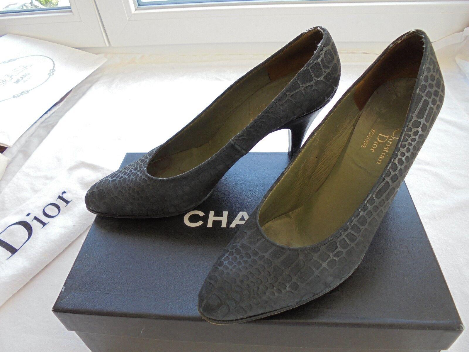 Christian Dior Leder Pumps NP:  TOP Tasche Schuhe Gr. 37