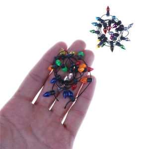 0-5m-Dollhouse-Miniature-A-String-of-Multi-Coloured-Plastic-Xmas-Lights-I2PYW