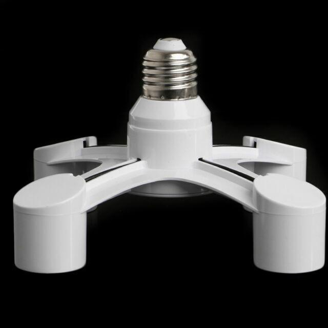 Bombillas LED Adaptador De Splitter Splitter E27 A 4 en 1 E27