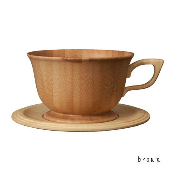A pair of Bamboo Wood Tea Cup Cup Cup & saucer - 2er Set Tazza Sotto Tazza da BAMBOO 3cec75