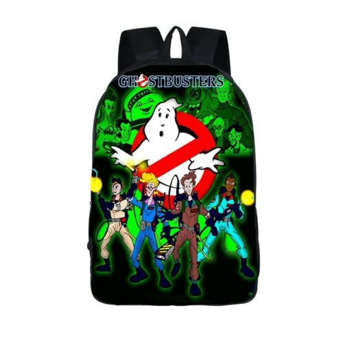 Ghostbusters 3D Print Fashion Notebook Bag Boys Girls School Travel Backpack A34