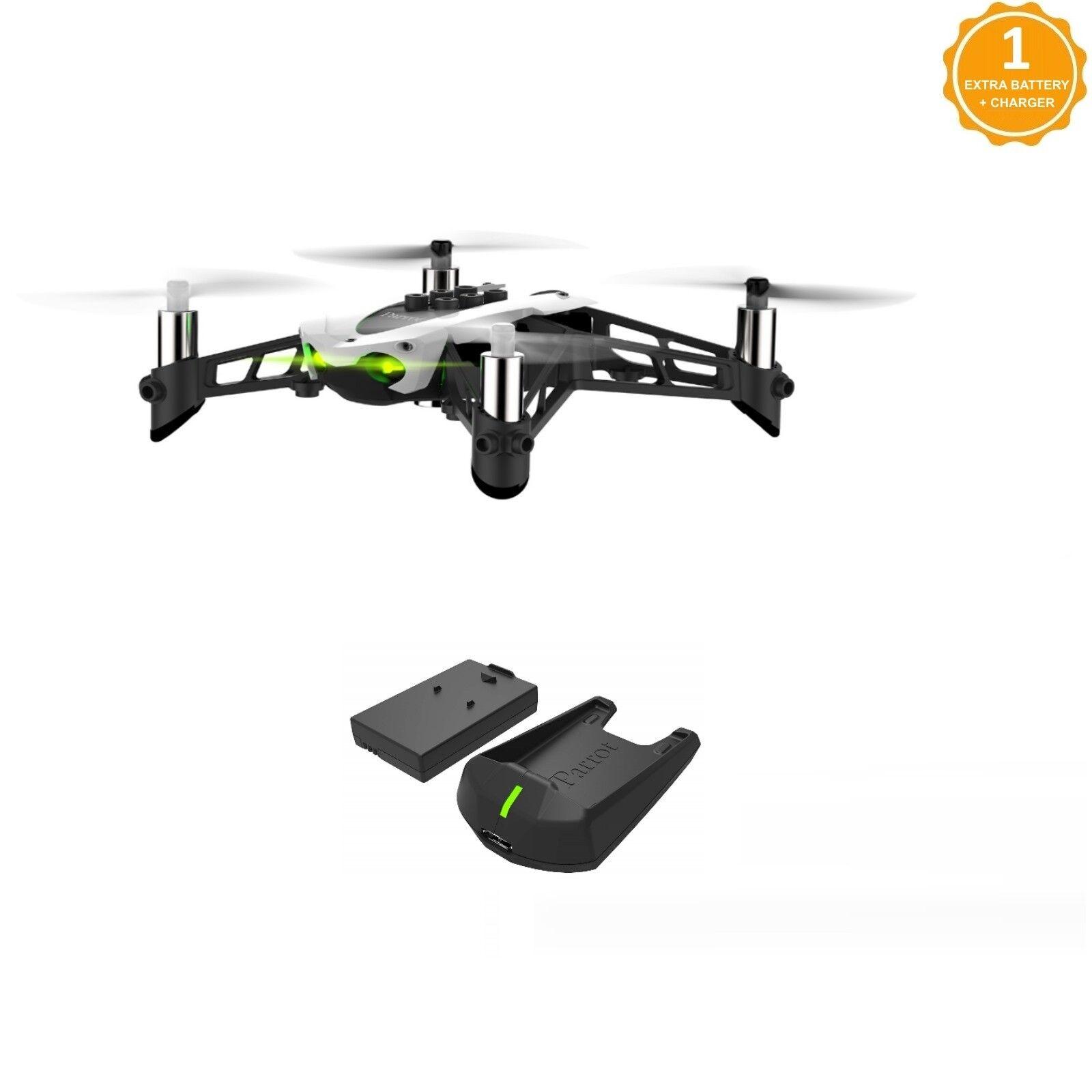 Parrojo Mambo Fly Drone Con Batería Extra Y Cargador Externo