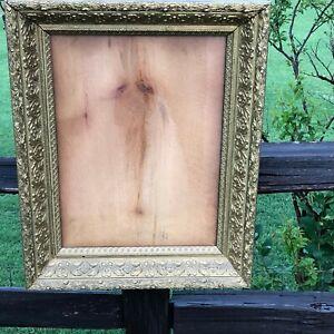 """Antique Ornate 1890s Victorian Gold Gilt Carved Wood Frame 25"""" X 20"""""""