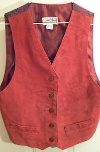 cfc0c803a98d Image is loading ARIZONA-DEEP-ROSE-GENUINE-LEATHER-SUEDE-VEST-WOMENS-