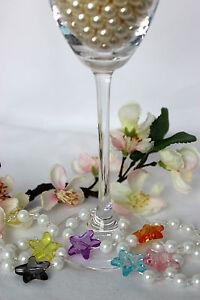 Set Weinglas Anhänger Sektglas Glasmarkierer Deko Dekoration Tisch