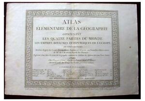 1784-PIERRE-BOURGOIN-ATLAS-Original-Title-Page