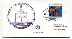 HonnêTe 1981 Kiellegung Des Deutschen Polar Forschungs Versogungsschiffes Wegener Cover Mode Attrayante