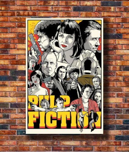 Art Pulp Fiction JoshuaBudich/_ 20x30 24x36in Poster Hot Gift C2293