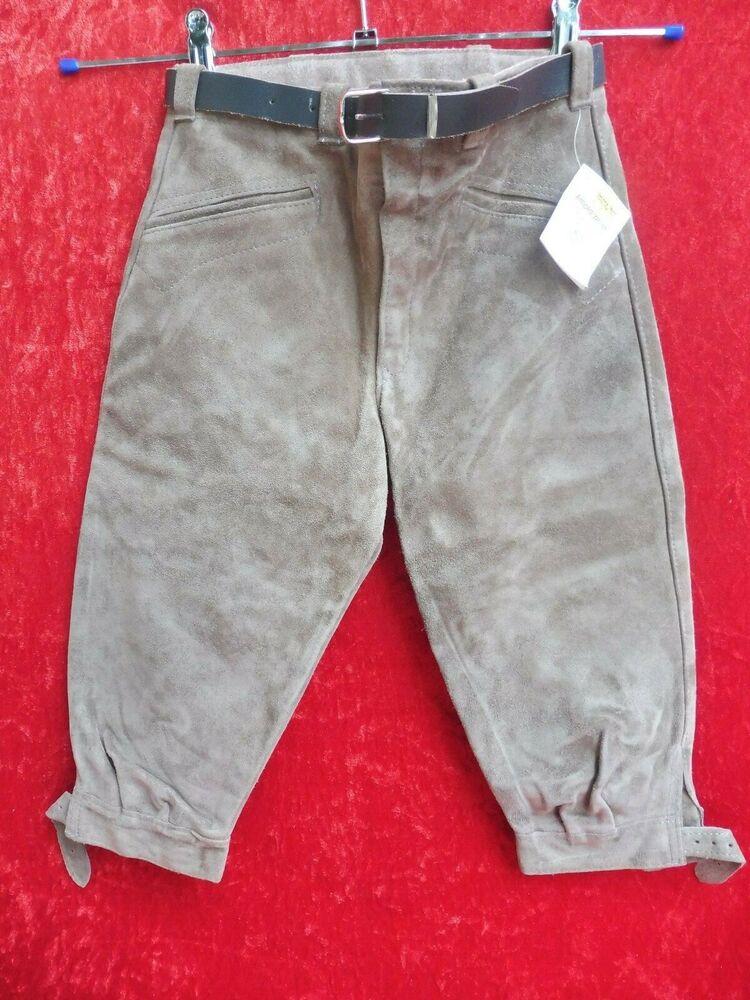 Bien éDuqué De Haute Qualité Pantalon Cuir, Taille 134, Neuf, Made In Germany, Kniebundhose Des Biens De Chaque Description Sont Disponibles