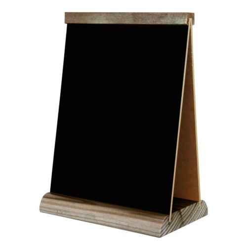 Tischaufsteller Werbetafel Preisschild Kreidetafel Karte A5 A4 Tafel Holz TS2B