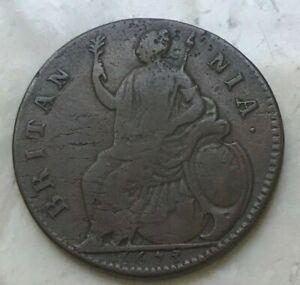 1673-Great-Britain-1-2-Half-Penny-Scarce-17th-Century-Copper
